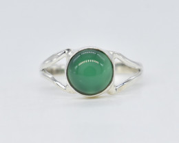 GREEN ONYX RING 925 STERLING SILVER NATURAL GEMSTONE AR1846