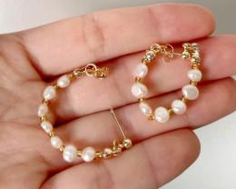 11.44ct Natural Baroque Pearl Stud Earrings #5