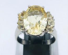 Beautiful Citrine Ring | 925 Silver