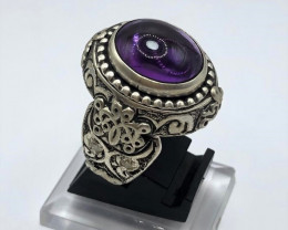 Amazing Classical Design Hand Made Amethyst Ring