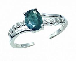 1.03ct.Gorgeous Grandidierite Rarest Gemstone Silver925Ring.DGD592