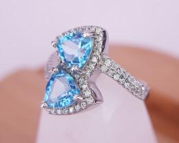 Beautiful Natural Topaz Gems Ring