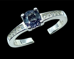0.92ct.Sparklingly Natural Spinel Gemstone Silver925Ring.DSP600
