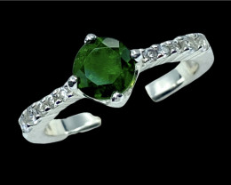 0.95ct.Enticing Chrome Diopside Gemstone Silver925Ring.DCD609