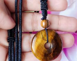 Natural Tiger Eye Handmade Pendant 100% Natural Unheated