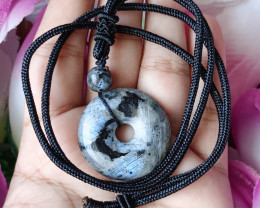 Natural Black Labradorite Handmade Pendant 100% Natural Unheated