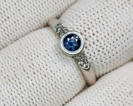 Natural Blue Sapphire 10.50 Carats 925 Silver Ring