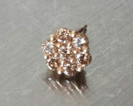 VINTAGE CHAMPAGNE DIAMOND EARRING 1/2 CTW IN YELLOW GOLD 10K