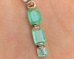 Presenting Green Afghan Belt  Emerald & Silver Pendent