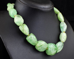 Genuine 726.00 Cts  Fluorite Faceted  Necklace