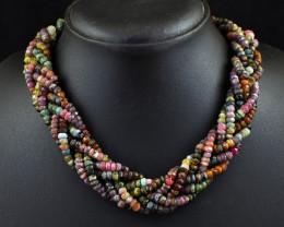 Genuine714.00 Cts    Watermelon Tourmaline Designer Necklace