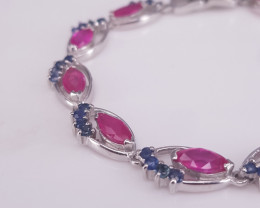 Beautiful Ruby Gems Bracelet