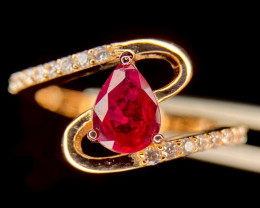 ~NR~Excellent Ruby Silver 925 Ring