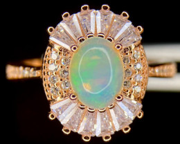 ~NR~Excellent Opal 925 Ring