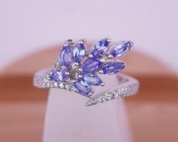Amazing Natural Tanzanite Gems Ring