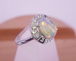 Beautiful Natural Opal Gems Ring