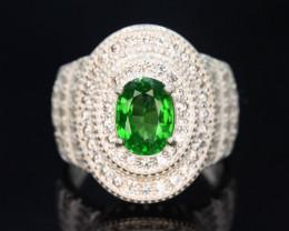 Exclusive 43 Ct Natural Tsavorite Garnet  Ring