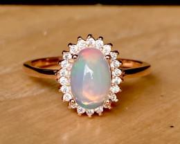 ~NR~Opal  Silver 925 Ring