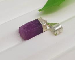 Natural Ruby Silver Pendant 13.20 Carats