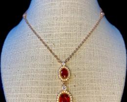 ~NR~Excellent Ruby Silver 925 Necklaces