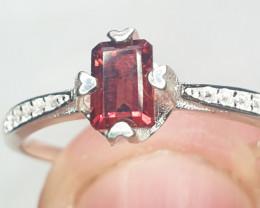 Natual Almandine Garnet Ring  9.65 Carats   925 Silver Ring   Natural Alman