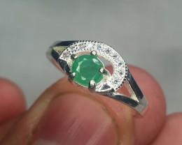 Natural Emerald Ring  13.15 Carats   925 Silver Ring   Natural Emerald Ring