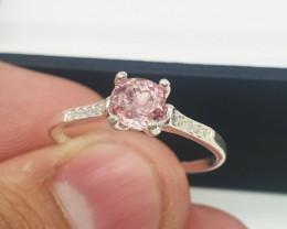 Natural Pink Tourmaline Ring  8.50 Carats Ring   925 Silver Ring   Natural
