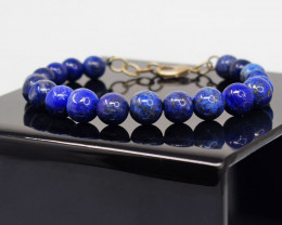 Genuine  140.00 Cts  Lapis Lazuli Bracelet