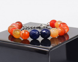 Genuine   173.00 Cts  Onyx Faceted Bracelet