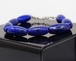 Genuine  219.00 Cts  Lapis Lazuli Bracelet