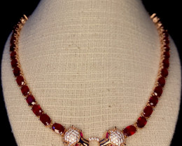 ~NR~Excellent Ruby Silver 925 Necklace