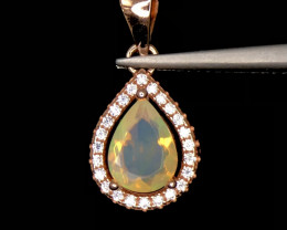 ~NR~Excellent Opal Silver 925 Pendent