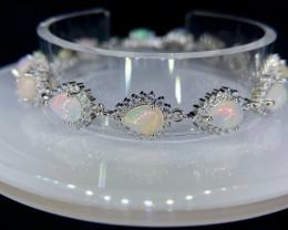 ~NR~Excellent Opal Silver 925 Bracelet
