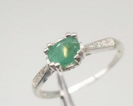 Natural Emrald Ring | 9.00 Carats  Ring | 925 Silver Ring | Natural EmraldR