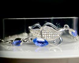 ~NR~Excellent Tanzanite  Silver 925 Bracelets