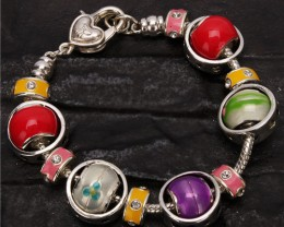 LOVELY  COLORFUL BRACELET  8""