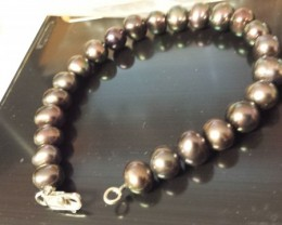 8 INCH STRAND WITH STERLING SILVER CLASP