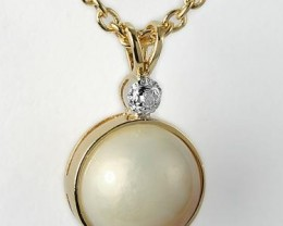 Amazing Womens 1ctw Pearl Diamond Necklace