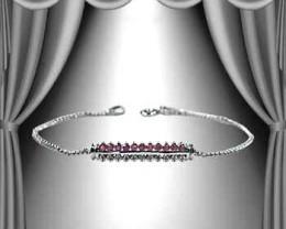 $1 No Reserve! Amazing Ruby & Diamond Bracelet