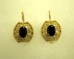 $1 No Reserve! Genuine Black Onyx Leverback Earrings