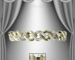 $1 No Reserve! 1.05 CT Diamond Chain 18K Bracelet $725