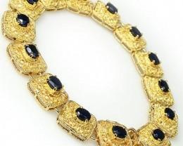 Amazing 7 CTW Sapphire Designer Bracelet $615