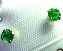 EMERALD EARRINGS 14K .34 CTS  AS-A3225