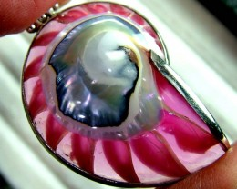 SHELL JEWELRY PENDANT- 925 SILVER  43 CTS  LJ-31