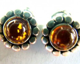 AMBER  SILVER EARRING  8.42  CTS  AS-A3399