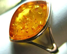 AMBER  SILVER RING  10.45  CTS  AS-A3477