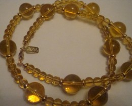BEAUTIFUL GOLDEN TOPAZ NECKLACE