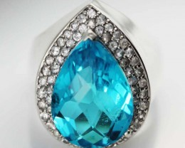 LARGE TOPAZ GEM STONE 10 RING SIZE 62.80 CTS [SJ1473]