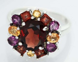 ASSORTED GEM STONE 8.5 RING SIZE 26.65 CTS [SJ1496]