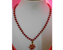 Red Crystal Beads Lovely Handcraft Necklace
